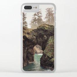 Fog at Natural Bridges Clear iPhone Case
