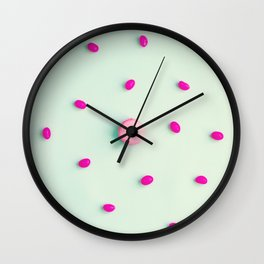 Macarons, macaroons, candies, pop art Wall Clock
