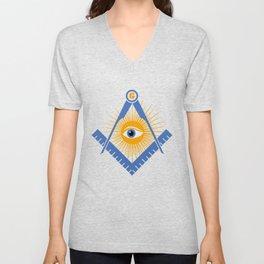 Freemasonry symbol Unisex V-Neck
