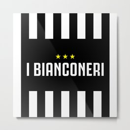 I Bianconeri Three Stars Metal Print