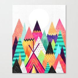 Land of Color Canvas Print