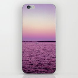 Purple haze on the biscayne iPhone Skin