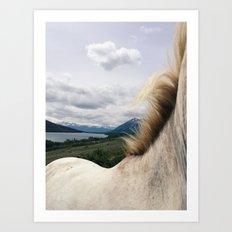 Horse Back Art Print