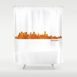 Houston City Skyline Hq v1 Shower Curtain