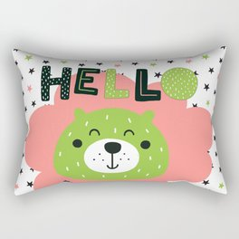 Hello Baby nursery boy and girl Rectangular Pillow
