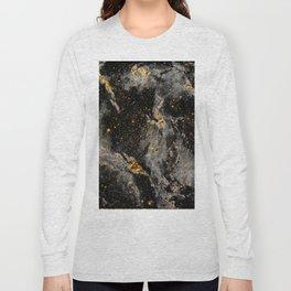 Galaxy (black gold) Long Sleeve T-shirt