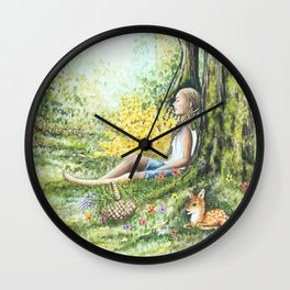 Forest Meditation Wall Clock