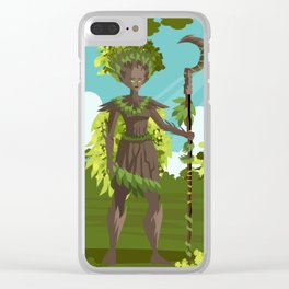 dryad nature tree forest guardian Clear iPhone Case