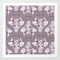 ganesh Art Prints featuring GANESH by Daneisha Kay