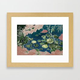 Green pond Framed Art Print