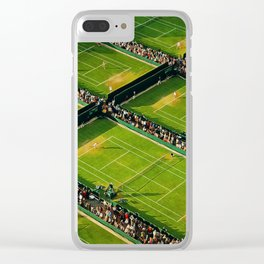 Wimbledon grass courts Clear iPhone Case