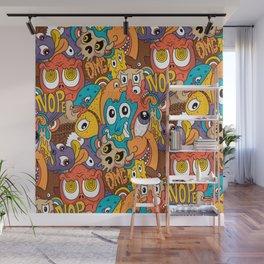 Weird Guys Pattern Wall Mural