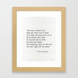 Omar Khayyám quote c Framed Art Print