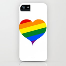 LGBT Rainbow Heart iPhone Case