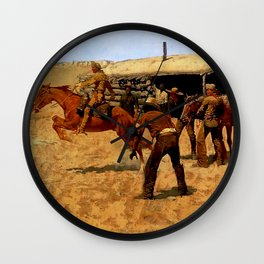 "Frederic Remington Western Art ""Pony Express"" Wall Clock"