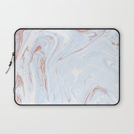 Blue Orange Marble Retro Marble Paper Laptop Sleeve