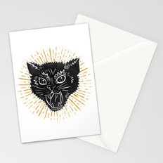 kitty attack Stationery Cards