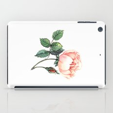 Illustration with watercolor rose iPad Case