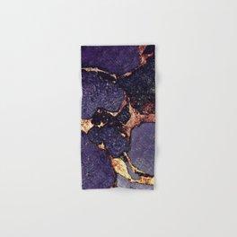 PURPLE & GOLD GEMSTONE Hand & Bath Towel