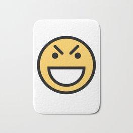 Smiley Face   Big Grinning Eyebrow Raised Face Bath Mat