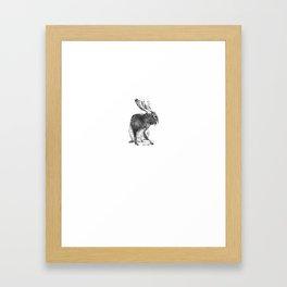 Japanese jackalope Framed Art Print