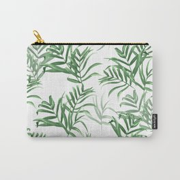 Summer Palms | Palm Leaves on White Carry-All Pouch