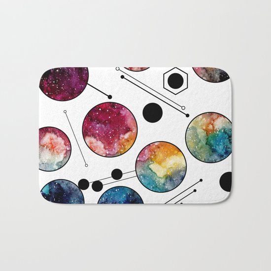 Galaxy Geometric Pattern 10 Bath Mat