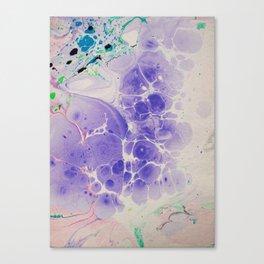 Purple Haze Marbleized print Canvas Print