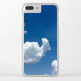 Snail cloud Clear iPhone Case
