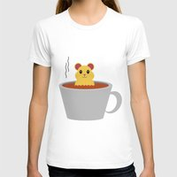 bath T-shirts featuring Hamster Bath by Cecily Cloud