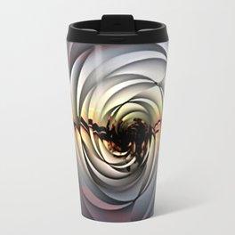 Island Sunset on Abstract Rose Travel Mug
