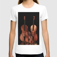 mortal instruments T-shirts featuring String Instruments by Simone Gatterwe