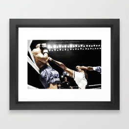 Sean Hinds high kick Framed Art Print