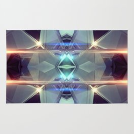 Abstract angular glow Rug