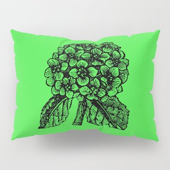 Green Hydrangea Pillow Sham