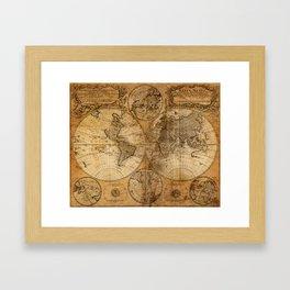 World Map 1746 Framed Art Print