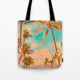 Vintage Hawaiian Beach, Mauna Lani Bay Teal Tote Bag