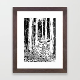 In the Shadow of Cedars Framed Art Print