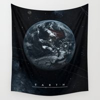 earth Wall Tapestries featuring EARTH  by Alexander Pohl