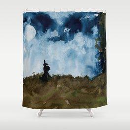 Moonlight Bunny Shower Curtain
