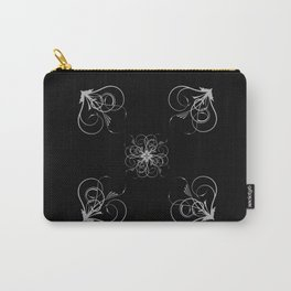Silver Embossed Corners Carry-All Pouch