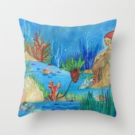 My secret garden Throw Pillow