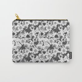 Glitch Floral Carry-All Pouch