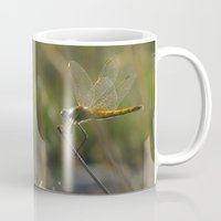 dragonfly Mugs featuring dragonfly by giol's