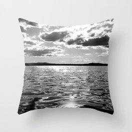 Metallic Waters Throw Pillow
