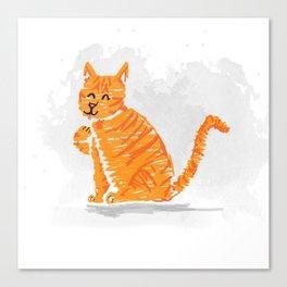 Sassy cat Canvas Print