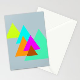 Triangles - neon color scheme series no. 2 Stationery Cards