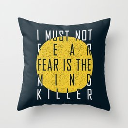 Dune - The Litany Against Fear (WHT) Throw Pillow