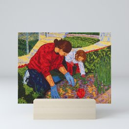 Tending the Garden Mini Art Print