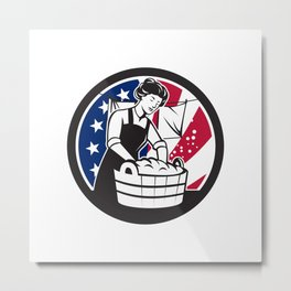 American Laundry USA Flag Icon Metal Print